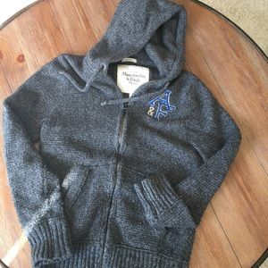Abercrombie and Fitch Wool Knit Hoodie